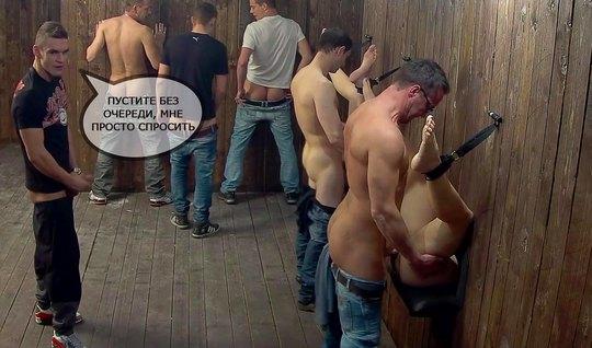 Толпа парней в публичном доме устроили групповушку с незнакомыми шлюшк...