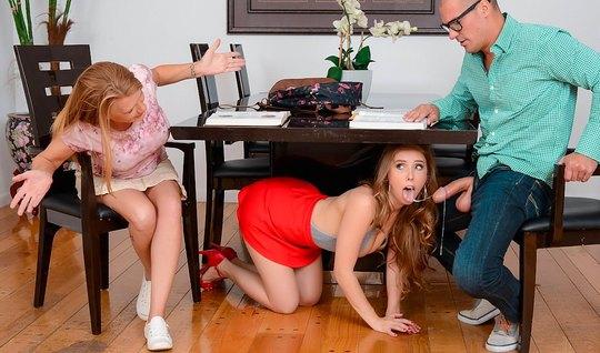 Студентка склонила к измене мужа своей сестры и трахнулась с ним...